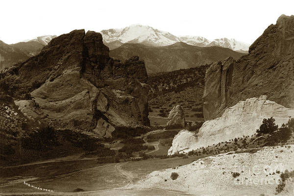 Photograph - Gateway And Pikes Peak, Garden Of The Gods, Colorado by California Views Archives Mr Pat Hathaway Archives