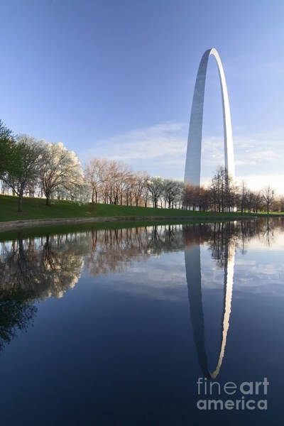 Photograph - Gateway Arch And Reflection by Sven Brogren