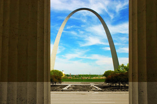Photograph - Gateway Arch Old Courthouse Columns by Patrick Malon