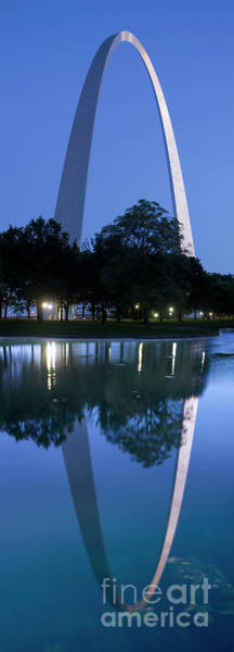 Wall Art - Photograph - Gateway Arch Reflecting In Pool by Garry McMichael