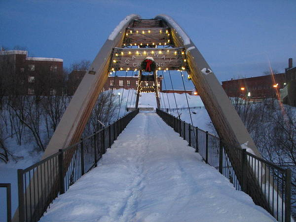 Houlton Photograph - Gateway Crossing In Winter by Judy Pearce