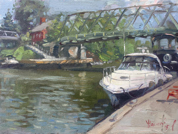 Tonawanda Wall Art - Painting - Gateway Harbor Park by Ylli Haruni