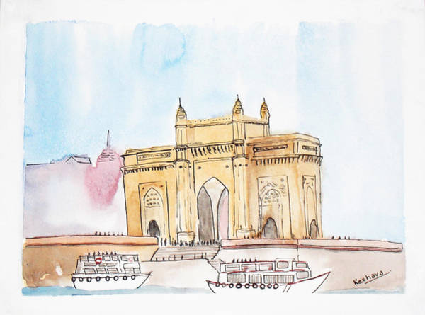 Mumbai Painting - Gateway Of India by Keshava Shukla