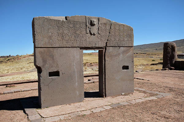 Photograph - Gateway Of The Sun In Tiwanaku by Aivar Mikko
