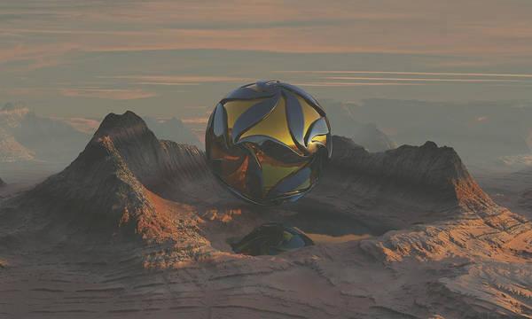 Scifi Digital Art - Gateway by Spacefrog Designs