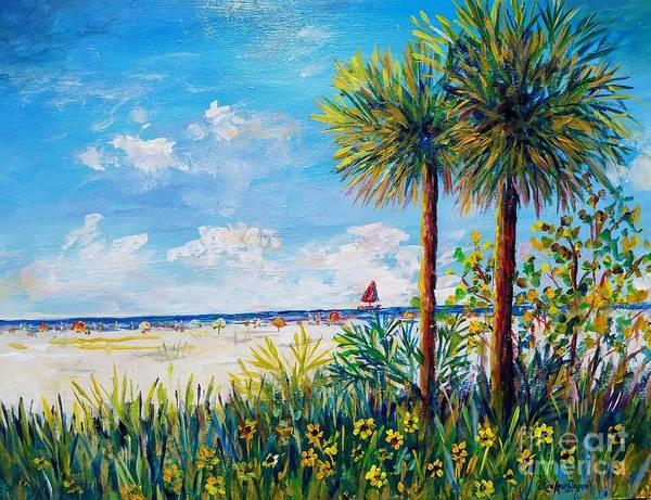 Wall Art - Painting - Gateway To Siesta Key Beach  by Lou Ann Bagnall