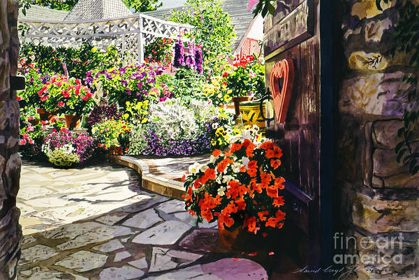 Wall Art - Painting - Gateway To The B And B by David Lloyd Glover