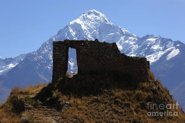 Photograph - Mt Veronica And Inti Punku Sun Gate by James Brunker