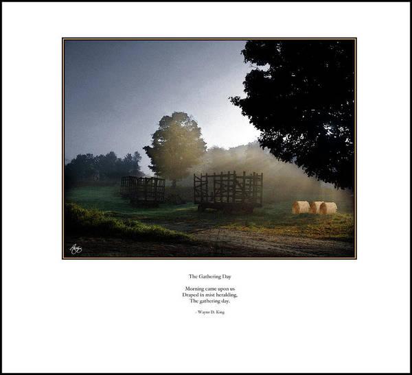 Photograph - Gathering Day Haiku Poster by Wayne King