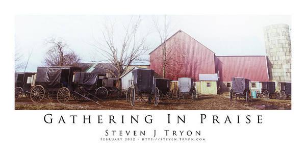 Gathering In Praise Art Print by Steven Tryon