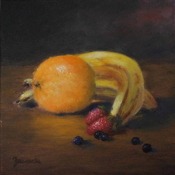 Painting - Gathering Of Fruit by Alan Zawacki