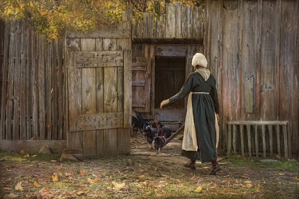 Photograph - Gathering The Hens by Robin-Lee Vieira