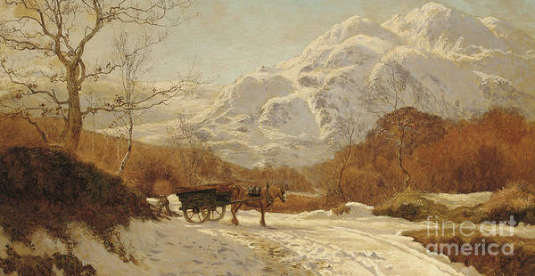 Wall Art - Painting - Gathering Wood In An Alpine Landscape by Colin Hunter