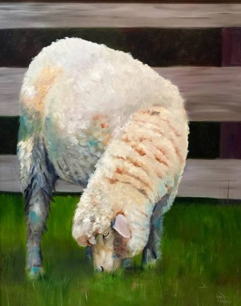 Gathering Wool Art Print
