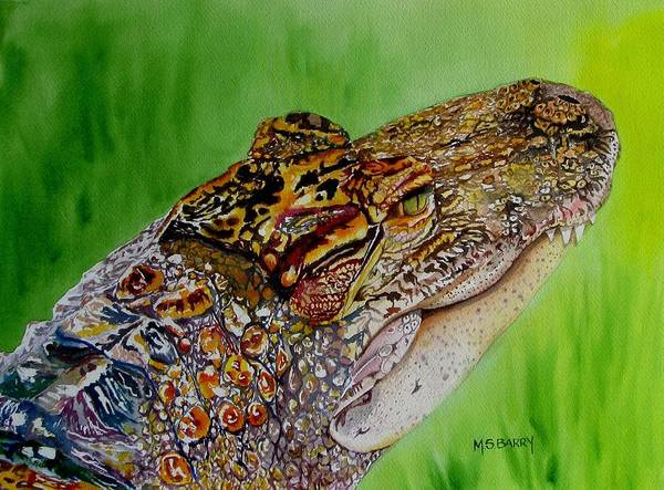 Wall Art - Painting - Gator Ali by Maria Barry