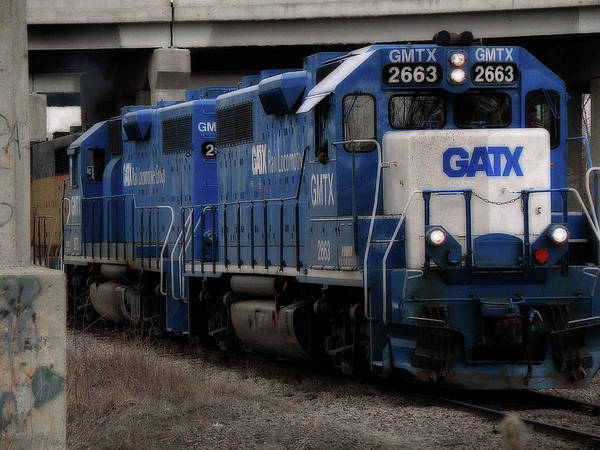 Photograph - Gatx Freight Train by Scott Hovind