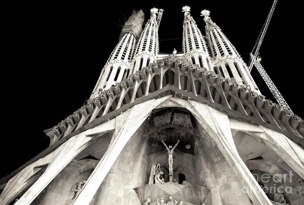 Photograph - Gaudi's Passion Facade Barcelona by John Rizzuto