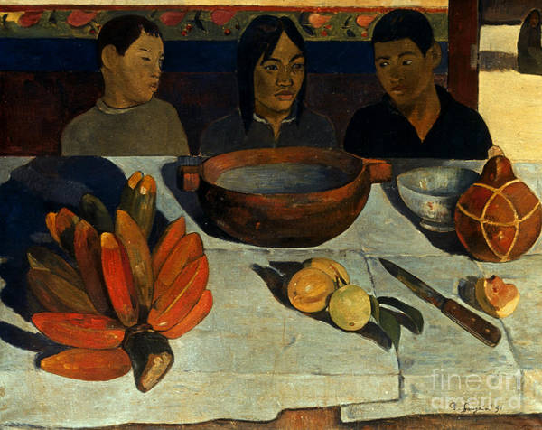 Photograph - Gauguin: Meal, 1891 by Granger