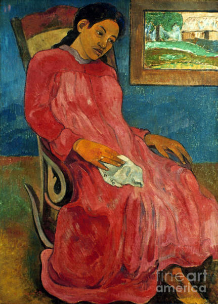 Photograph - Gauguin: Reverie, 1891 by Granger