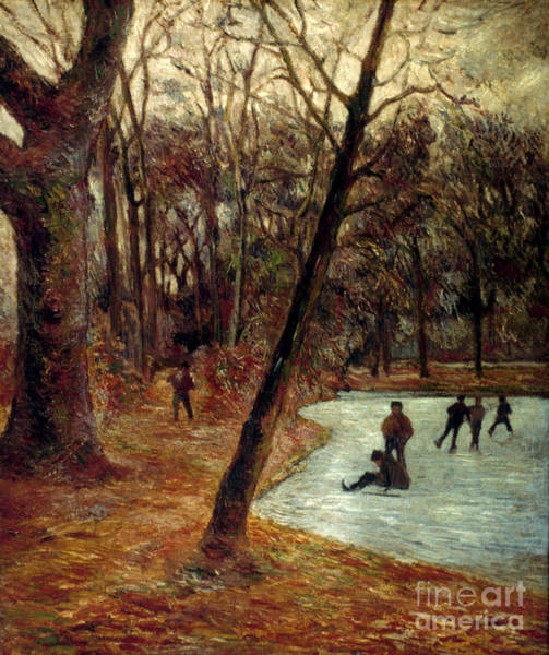Photograph - Gauguin: Skaters, 1884-85 by Granger