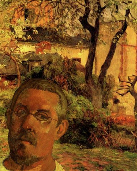 Digital Art - Gauguin Study In Orange by Tristan Armstrong