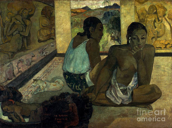 Photograph - Gauguin: Te Rerioa, 1897 by Granger