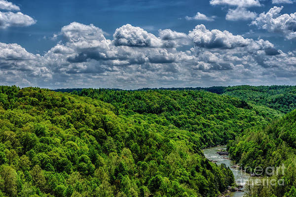 Photograph - Gauley River Canyon And Clouds by Thomas R Fletcher