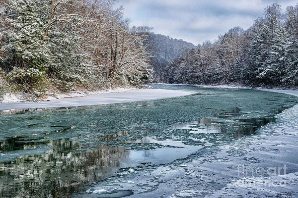 Photograph - Gauley River With Slush Ice by Thomas R Fletcher