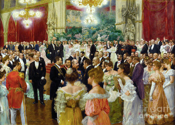 Wall Art - Painting - Gause, Vienna Ball, 1904 by Granger
