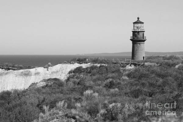 Photograph - Gay Head Lighthouse - Black And White by Carol Groenen