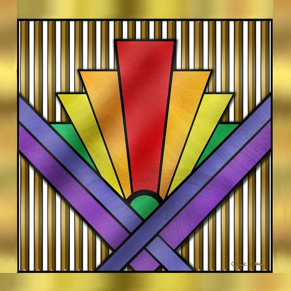 Digital Art - Rainbow Art Deco by Chuck Staley