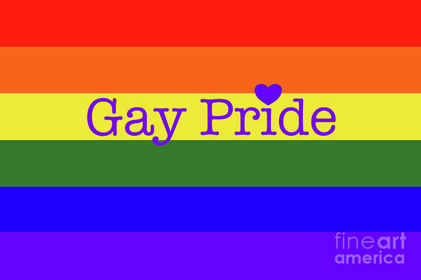 Digital Art - Gay Pride Love by Barefoot Bodeez Art