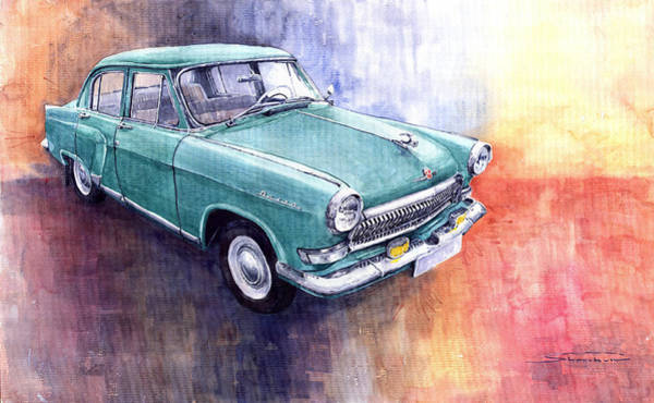 Classic Cars Painting - Gaz 21 Volga by Yuriy Shevchuk