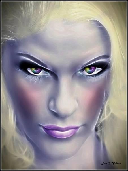 Ir Painting - Gaze Of The Fairy Queen by Jon Volden