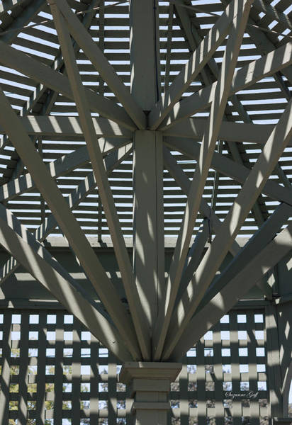 Wall Art - Photograph - Gazebo Abstract by Suzanne Gaff