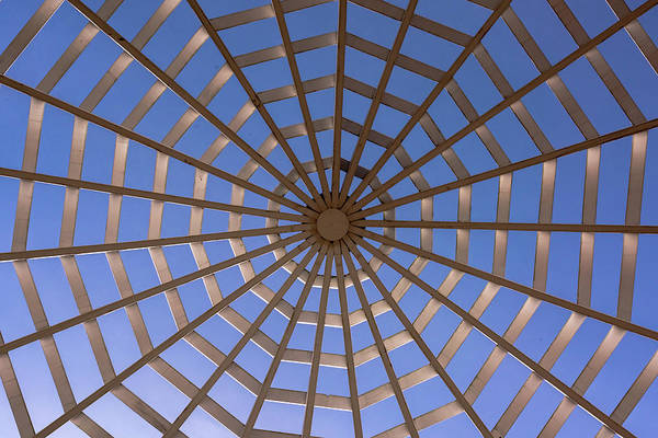 Photograph - Gazebo Blue Sky Abstract by Terry DeLuco
