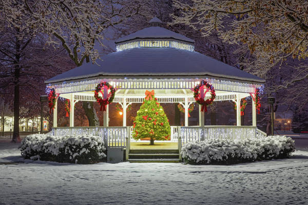 Wall Art - Photograph - Gazebo In Beaver Pa by Emmanuel Panagiotakis