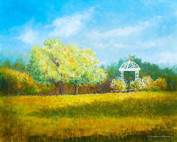 Painting - Gazebo In Garden by Douglas Castleman
