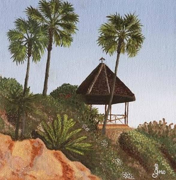 Laguna Beach Painting - Gazebo In Laguna by Ene Rahu