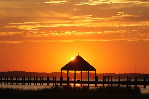 Photograph - Gazebo Sunset by Robert Banach
