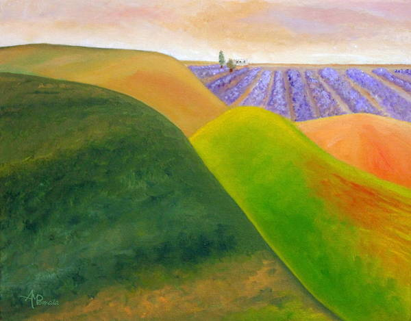 Painting - Gazing Along The Hills by Angeles M Pomata