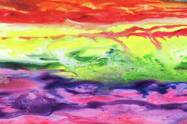 Gazing Painting - Gazing At The Rainbow Abstract Ix by Irina Sztukowski