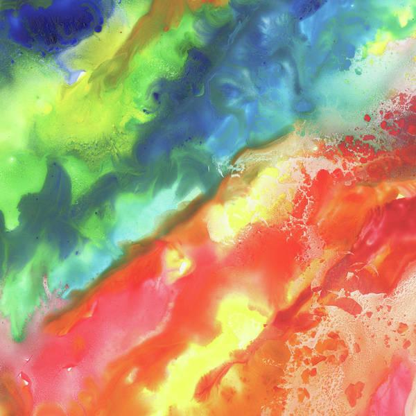 Gazing Painting - Gazing At The Rainbow Abstract V by Irina Sztukowski