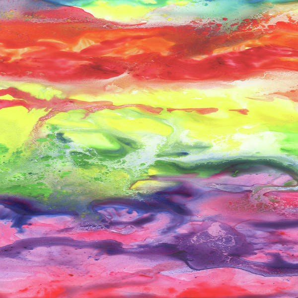 Gazing Painting - Gazing At The Rainbow Abstract Viii by Irina Sztukowski