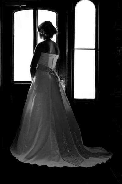 Wedding Photograph - Gazing Bride by David Paul Murray