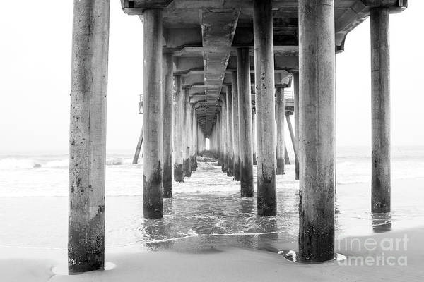 Scripps Pier Photograph - Gazing Into The Pier by Ruth Jolly