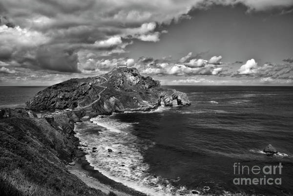 Game Of Thrones Photograph - Gaztelugatxe Dragonstone Bw by RicardMN Photography