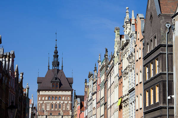 Tenement Photograph - Gdansk Old Town Skyline In Poland by Artur Bogacki