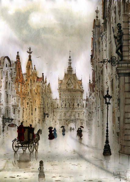 Wall Art - Painting - Gdansk by Svetlana and Sabir Gadghievs
