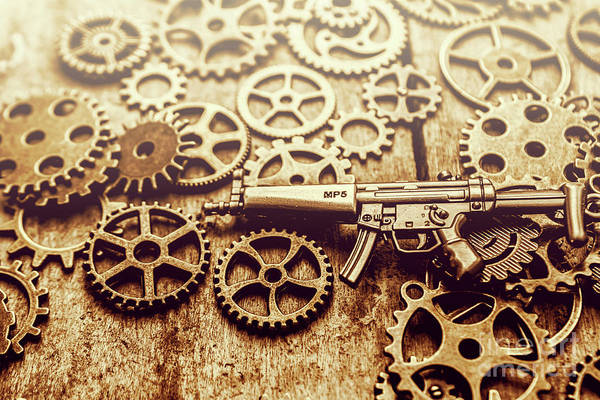 Warfare Wall Art - Photograph - Gear Of Weapon Design by Jorgo Photography - Wall Art Gallery